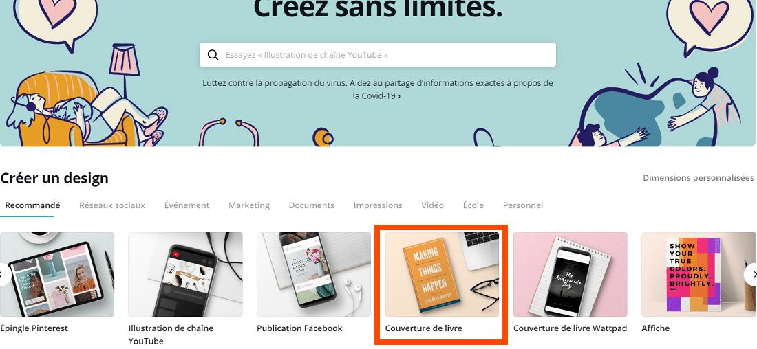 Créer une couverture d'ebook avec Canva