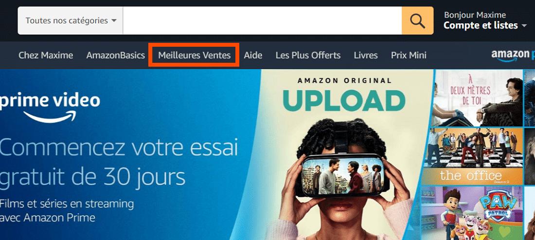 Meilleures ventes sur Amazon