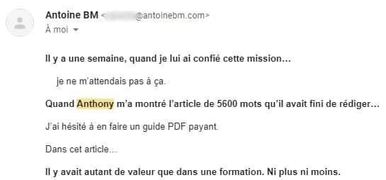 Avis Antoine BM